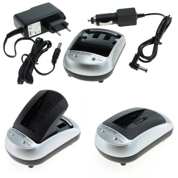 Carregador p. Nikon Coolpix P610, Carregador para bateria com 230V AC adaptador, carregador + carregador de carro para o carro, caminhão 12V e 24V.